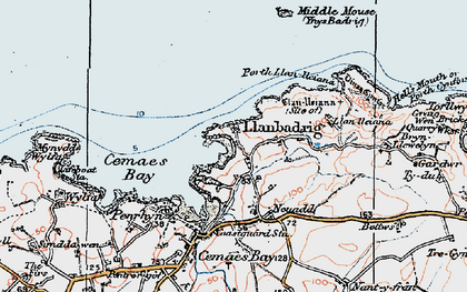 Old map of Llanbadrig in 1922