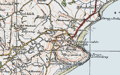 Old map of Bachellyn in 1922