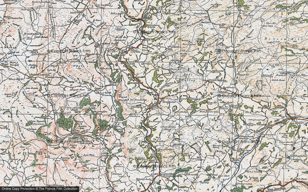 Old Map of Historic Map covering Bachell Brook in 1920