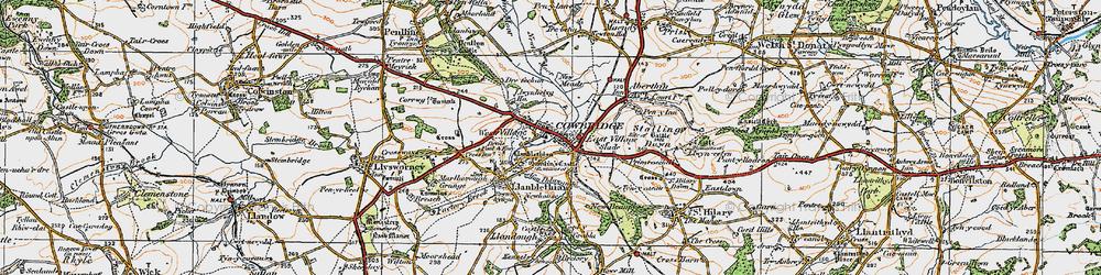 Old map of Llanblethian in 1922