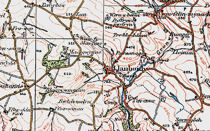 Old map of Afon Gronw in 1922
