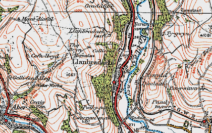 Old map of Llanbradach in 1919