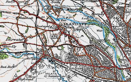 Old map of Llandaff in 1919