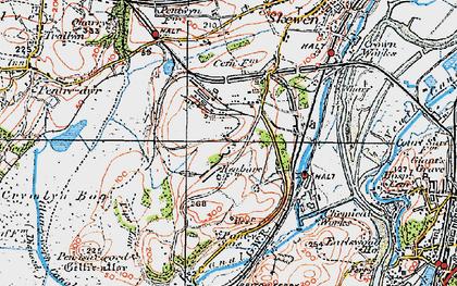 Old map of Llandarcy in 1923