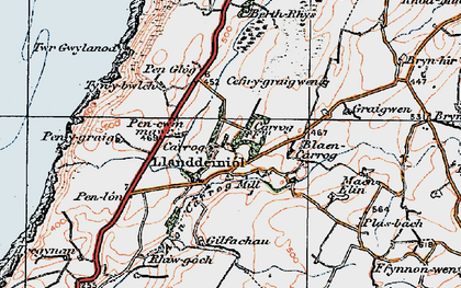 Old map of Aelybryn in 1922