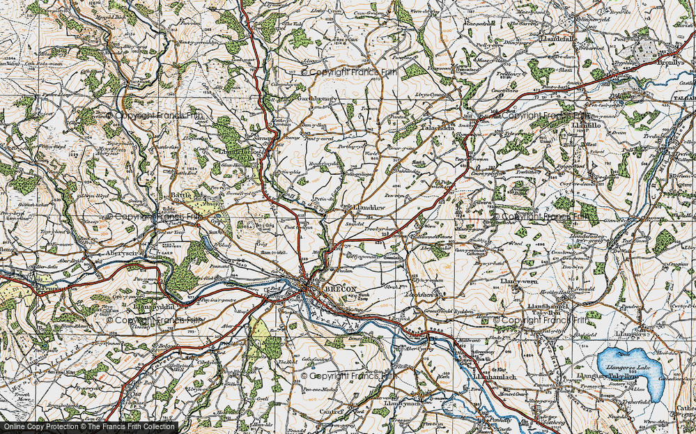Old Map of Historic Map covering Alexanderstone in 1923