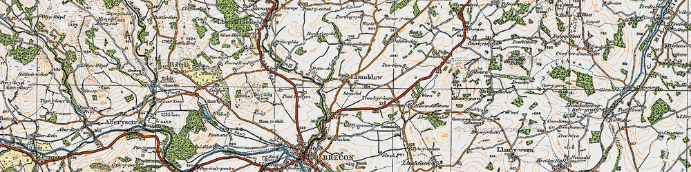 Old map of Alexanderstone in 1923
