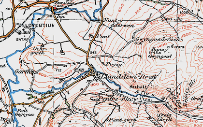 Old map of Banc-y-Gwyngoed in 1923