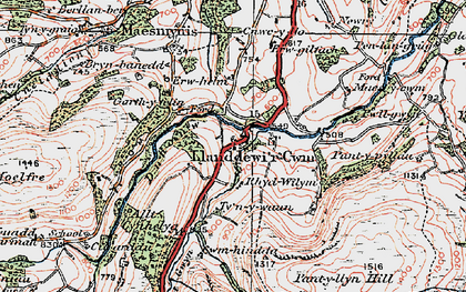 Old map of Banc y Celyn in 1923