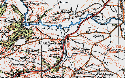 Old map of Woolstone in 1922