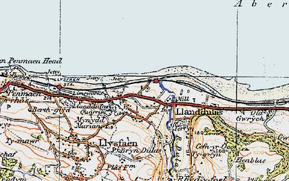 Old map of Llanddulas in 1922