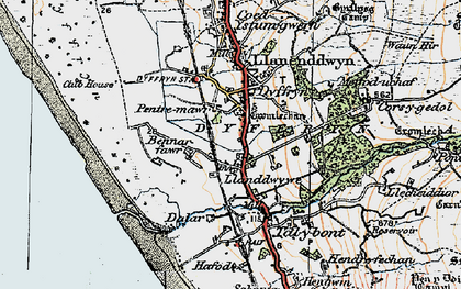 Old map of Afon Ysgethin in 1922