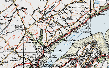 Old map of Ynys Gaint in 1922