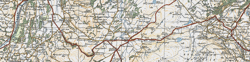 Old map of Accre in 1921
