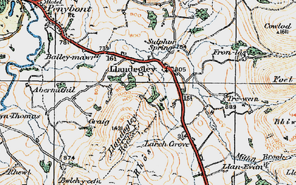 Old map of Bailey-mawr in 1920