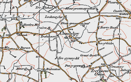 Old map of Paran in 1922