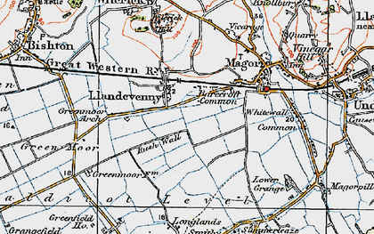 Old map of Barecroft Common in 1919