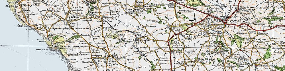 Old map of Llandow in 1922