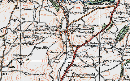 Old map of Aberceiro in 1922