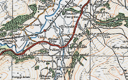 Old map of Afon Llynor in 1922