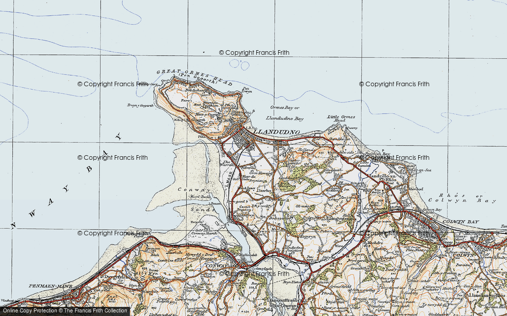 Map Of Llandudno Map of Llandudno, 1922   Francis Frith