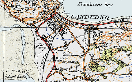 Old map of Llandudno in 1922