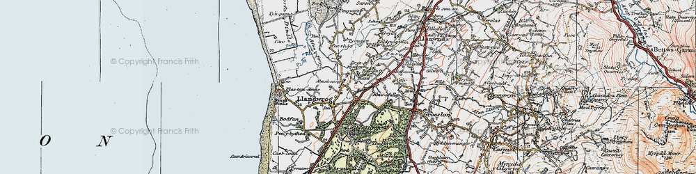 Old map of Afon Foryd in 1922