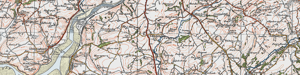 Old map of Ystradferthyr in 1923