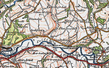 Old map of Aberhalen in 1923