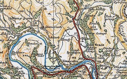 Old map of Llandynan in 1921