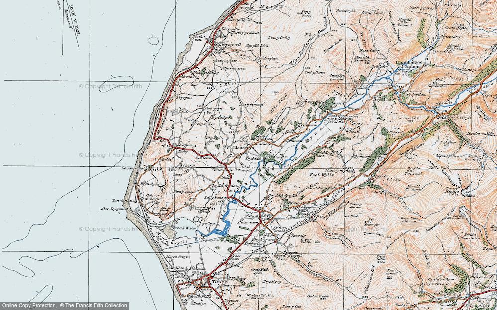Old Map of Llanegryn, 1922 in 1922
