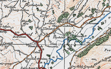 Old map of Llanegryn in 1922