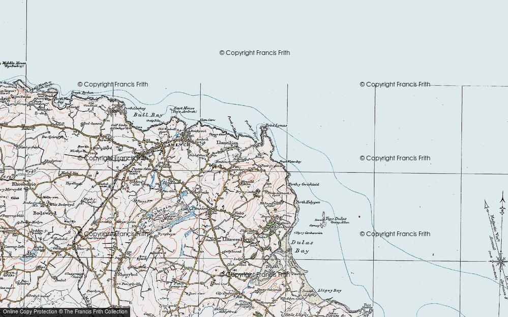 Old Map of Llaneilian, 1922 in 1922