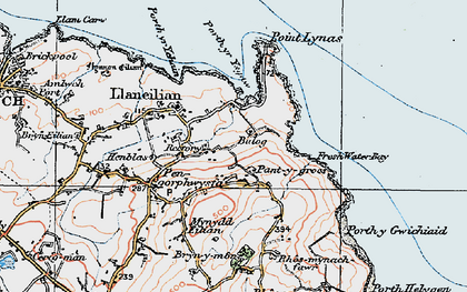 Old map of Balog in 1922