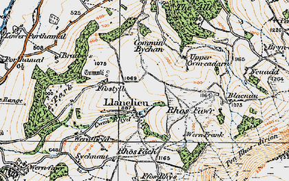 Old map of Y Das in 1919