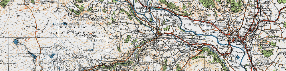 Old map of Tir Gunter in 1919