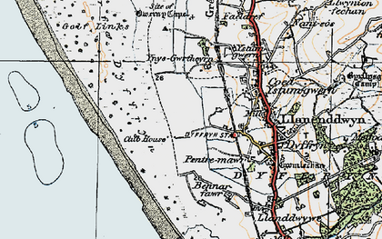 Old map of Ynys-Gwrtheyrn in 1922