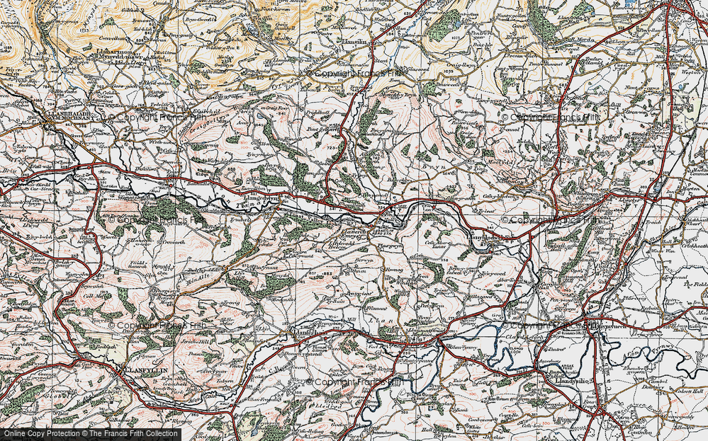 Old Map of Historic Map covering Allt Goch in 1921