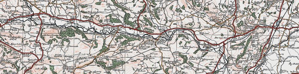 Old map of Allt Goch in 1921