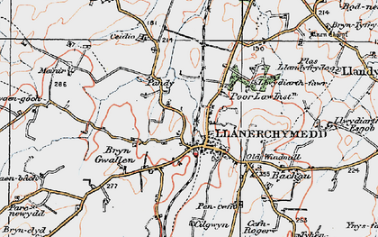 Old map of Wilpol in 1922