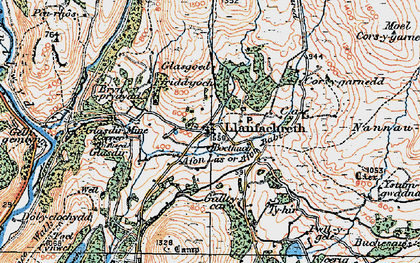 Old map of Afon Babi in 1921