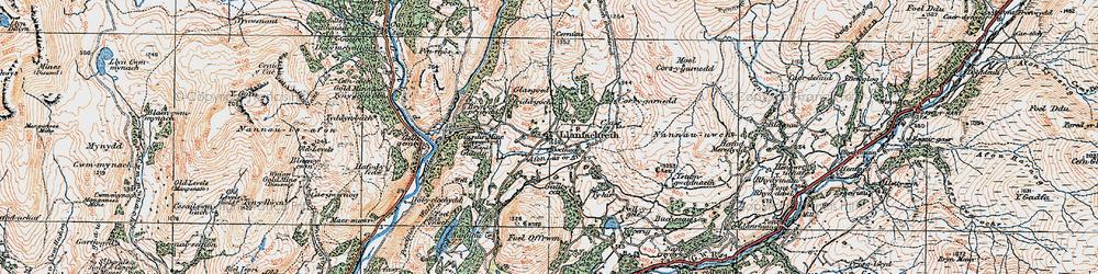 Old map of Afon Lâs or Afon Babi in 1921