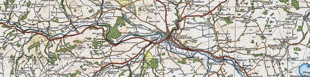 Old map of Abergwdi in 1923