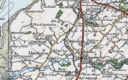 Old map of Ysgubor Isaf in 1922