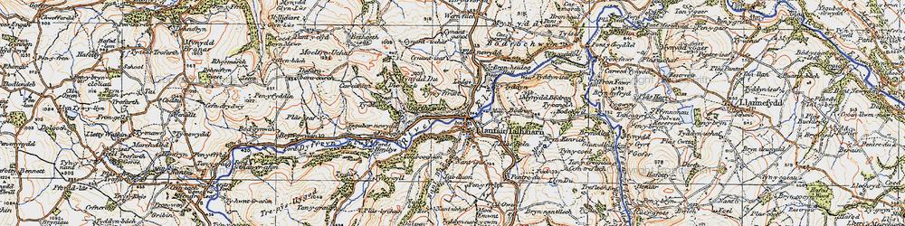 Old map of Ysgubor-newydd in 1922