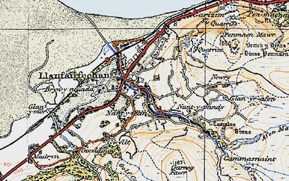 Old map of Llanfairfechan in 1922