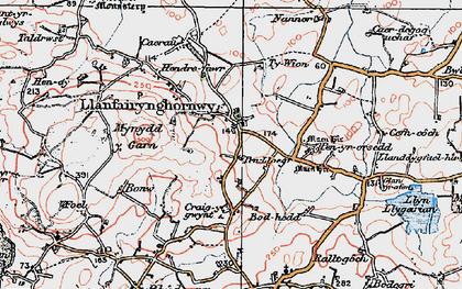 Old map of Llanfairynghornwy in 1922
