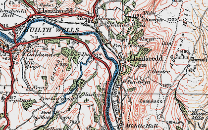 Old map of Aberedw Hill in 1923