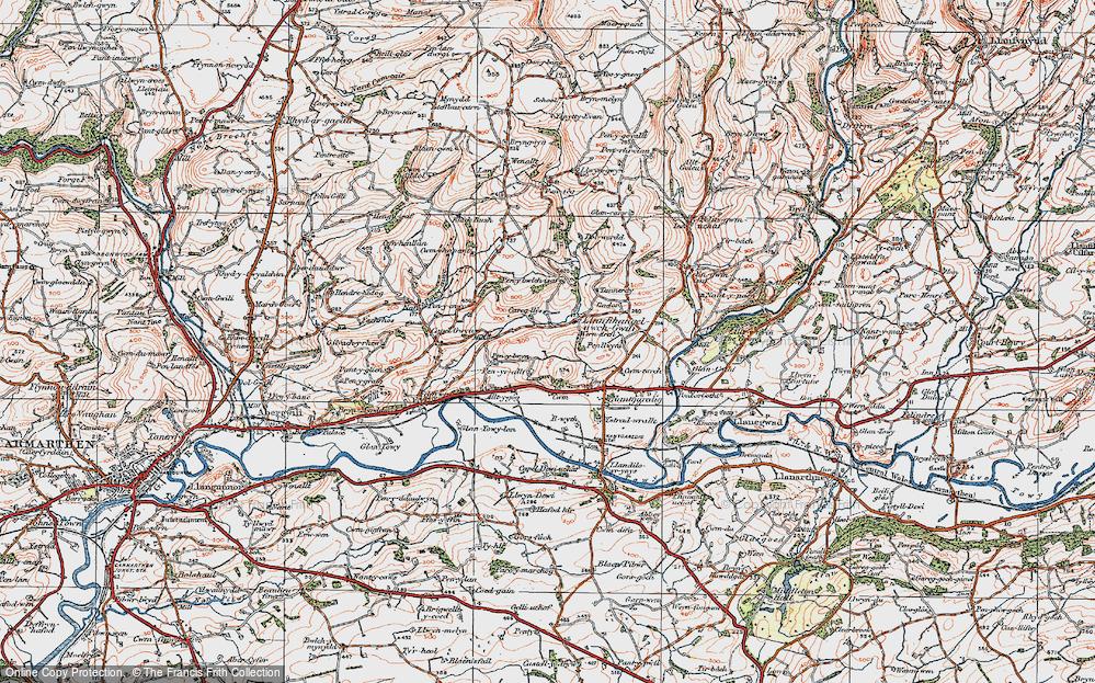 Llanfihangel-uwch-Gwili, 1923