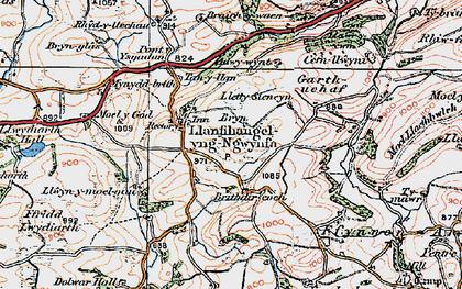 Old map of Adwywynt in 1921